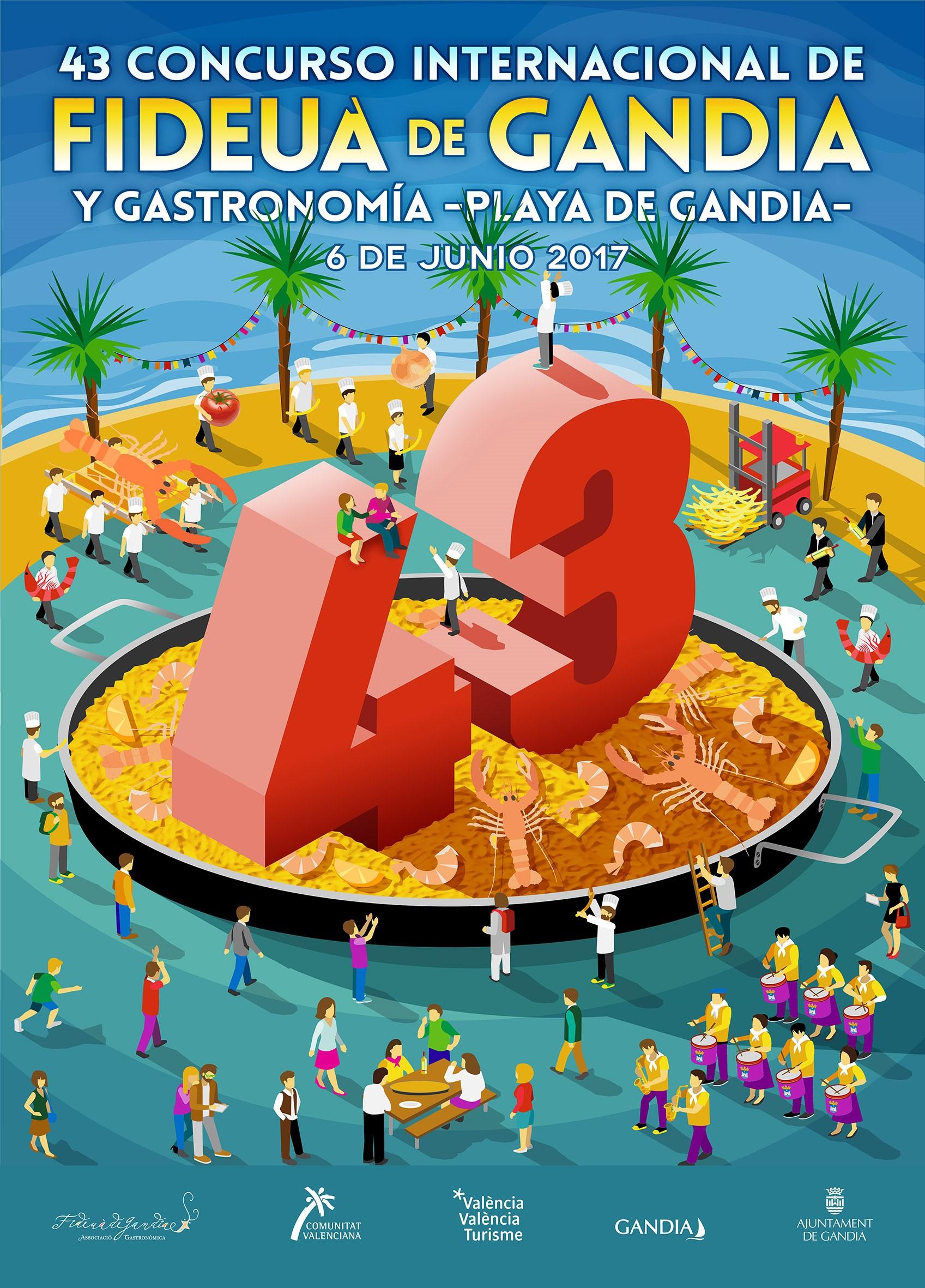 Ganador del concurso de carteles Fideua de Gandia 2017